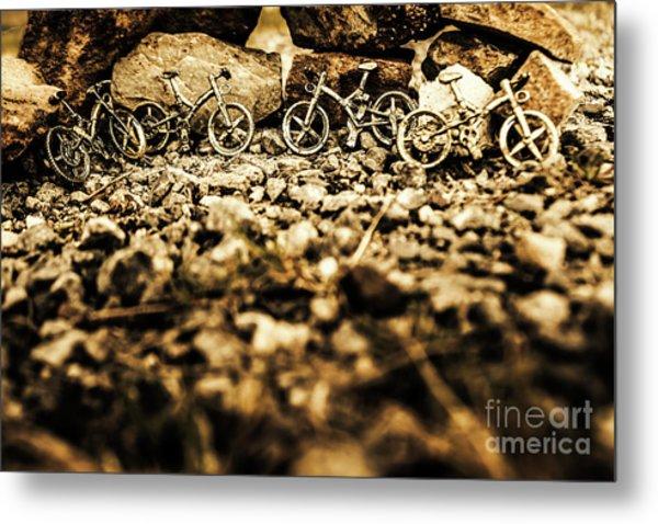 Rustic Mountain Bikes Metal Print