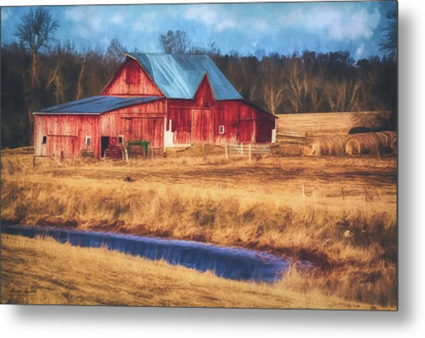 Rustic Red Barn Metal Print