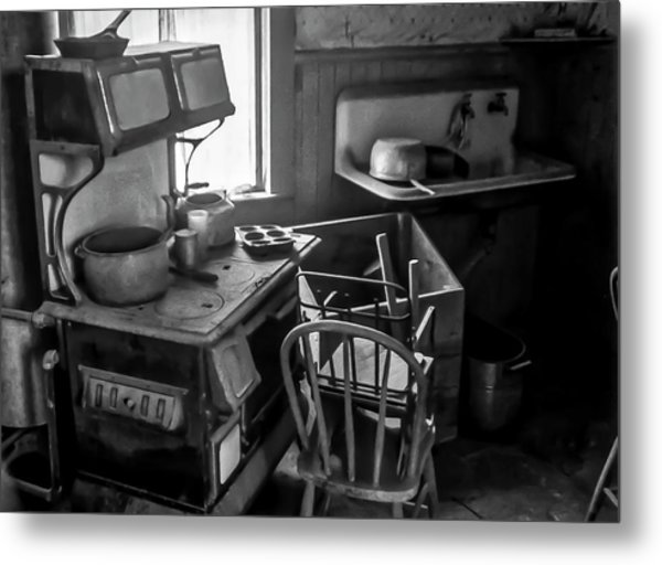 Rusting Pots And Pans, Bodie Ghost Town Metal Print