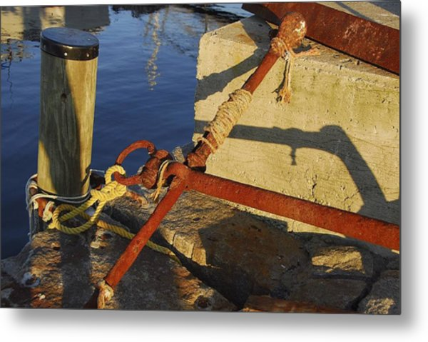 Rusty Anchor Metal Print