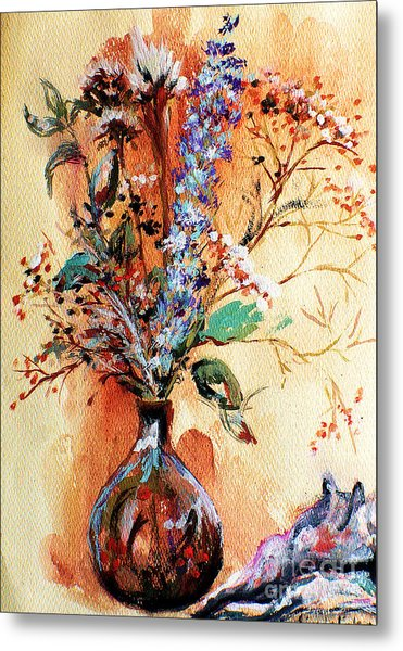 Rusty Arrangement Metal Print