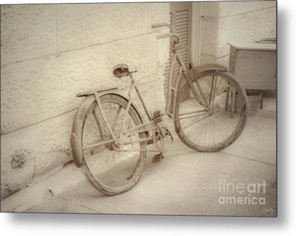 Rusty Bicycle Metal Print