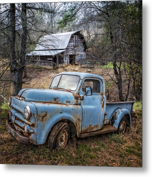 Rusty Blue Dodge Metal Print