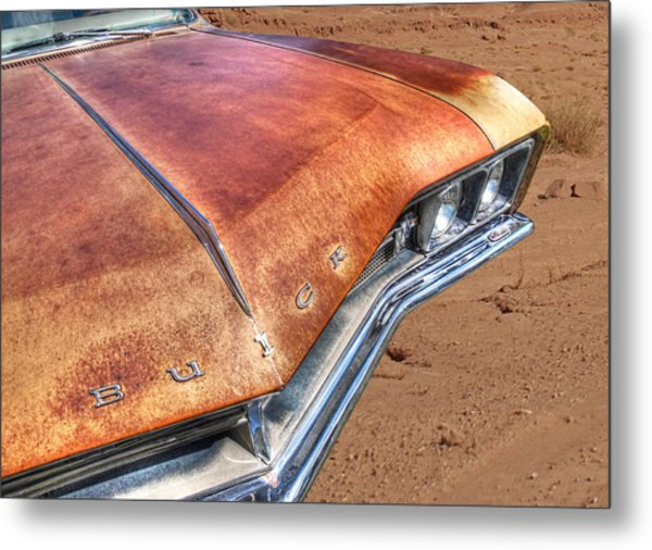 Rusty Buick Metal Print by Gill Billington