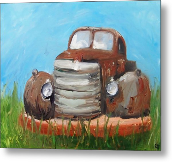 Rusty Metal Print by Cari Humphry