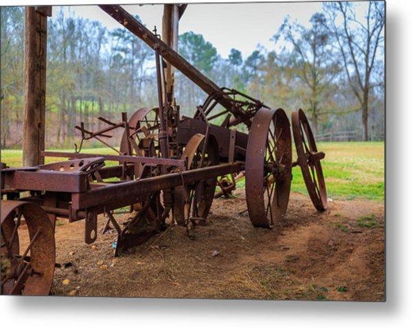 Rusty Farming Metal Print