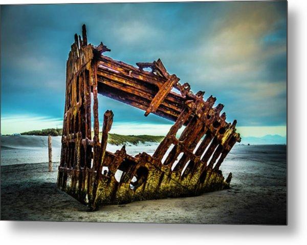 Rusty Forgotten Shipwreck Metal Print