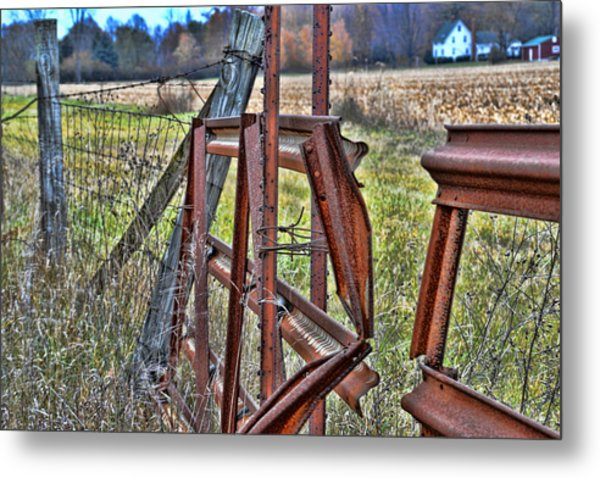 Rusty Gate Metal Print