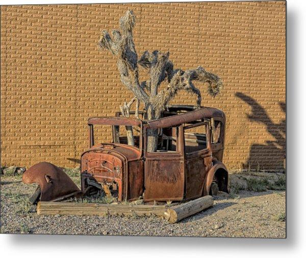 Rusty In The Desert Metal Print