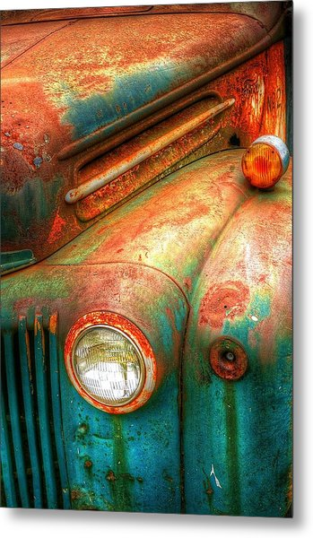 Rusty Old Ford Metal Print