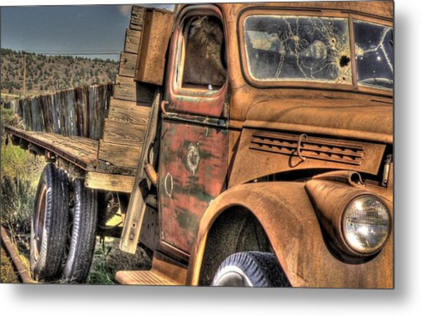 Rusty Old Truck Metal Print by Peter Schumacher