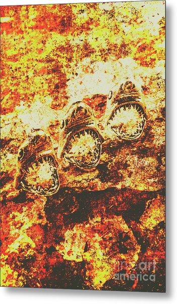 Rusty Shark Scene Metal Print