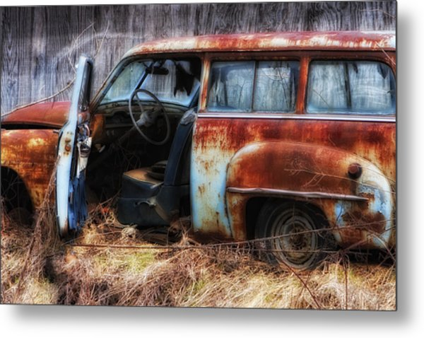 Rusty Station Wagon Metal Print