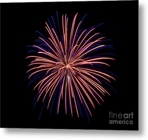 Rvr Fireworks 48 Metal Print