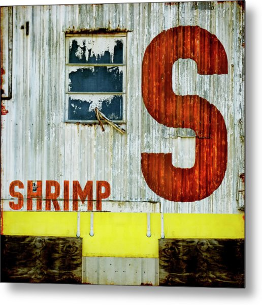 S Is For Shrimp  Metal Print