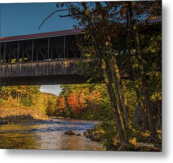 Saco River Covered Bridge Metal Print