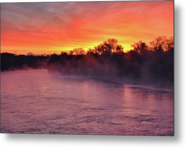 Sacramento River Sunrise Metal Print