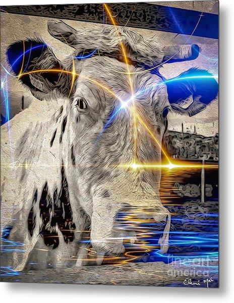 Metal Print featuring the digital art Sacred Cow by Eleni Mac Synodinos