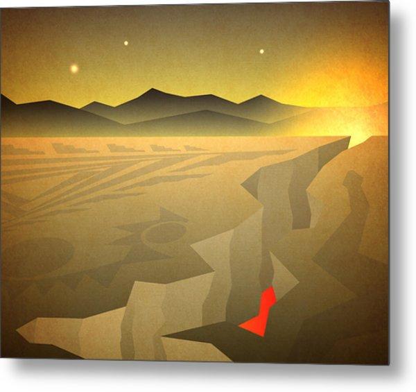 Sacred Desert Vista Metal Print