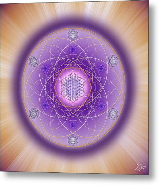 Metal Print featuring the digital art Sacred Geometry 704 by Endre Balogh