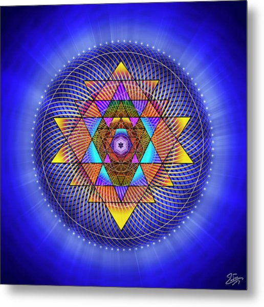 Metal Print featuring the digital art Sacred Geometry 705 by Endre Balogh