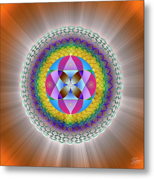 Metal Print featuring the digital art Sacred Geometry 706 by Endre Balogh