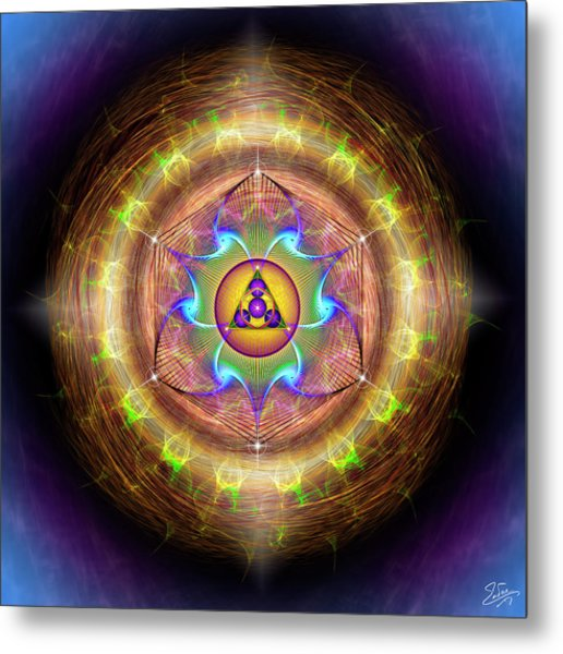 Metal Print featuring the digital art Sacred Geometry 707 by Endre Balogh