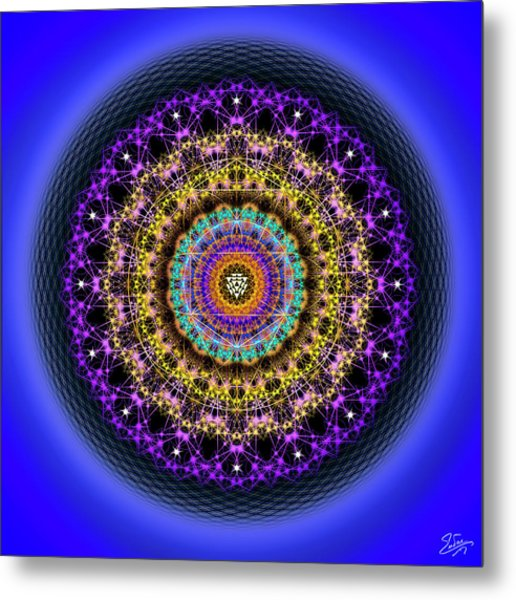 Metal Print featuring the digital art Sacred Geometry 708 by Endre Balogh