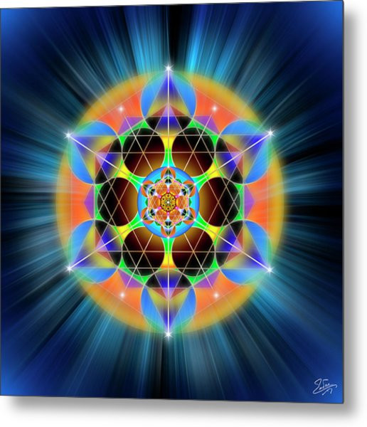 Metal Print featuring the digital art Sacred Geometry 709 by Endre Balogh