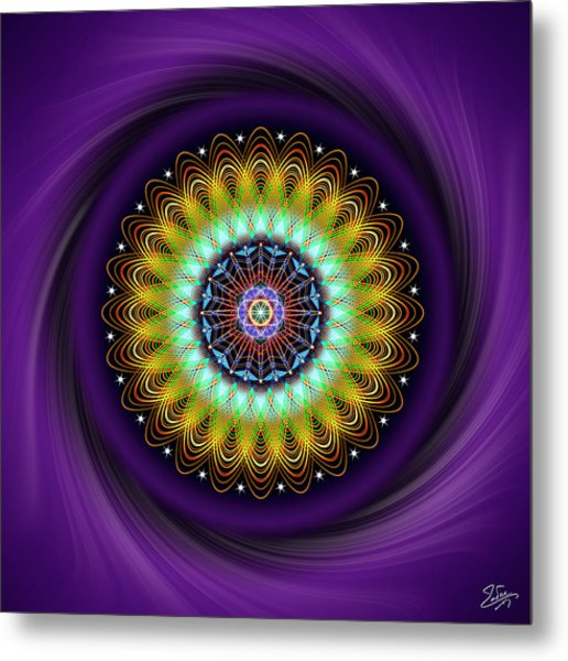 Metal Print featuring the digital art Sacred Geometry 710 by Endre Balogh