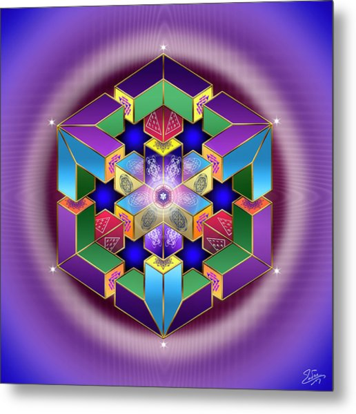 Metal Print featuring the digital art Sacred Geometry 711 by Endre Balogh