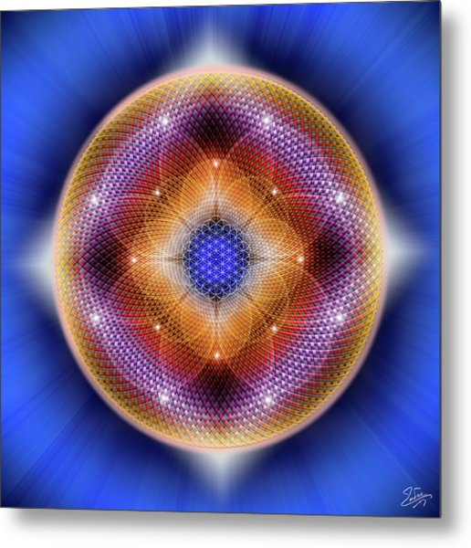 Metal Print featuring the digital art Sacred Geometry 712 by Endre Balogh