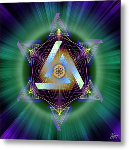 Metal Print featuring the digital art Sacred Geometry 713 by Endre Balogh