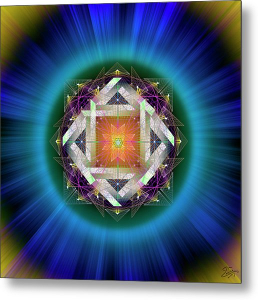 Metal Print featuring the digital art Sacred Geometry 714 by Endre Balogh