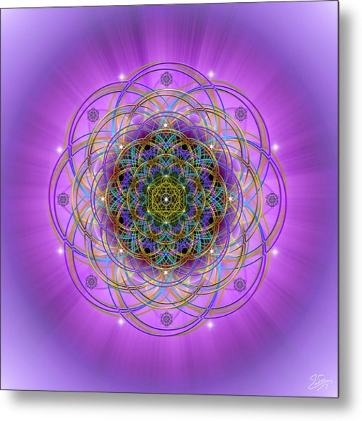 Metal Print featuring the digital art Sacred Geometry 715 by Endre Balogh