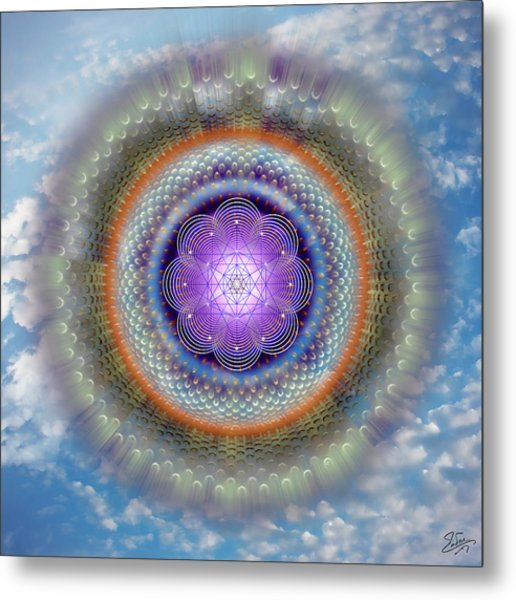 Metal Print featuring the digital art Sacred Geometry 716 by Endre Balogh