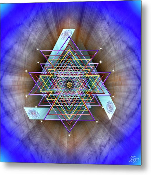 Metal Print featuring the digital art Sacred Geometry 717 by Endre Balogh