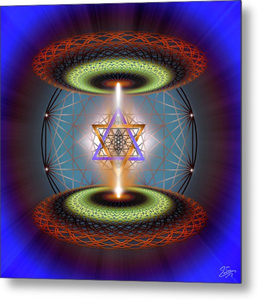 Metal Print featuring the digital art Sacred Geometry 718 by Endre Balogh