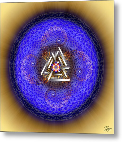 Metal Print featuring the digital art Sacred Geometry 719 by Endre Balogh