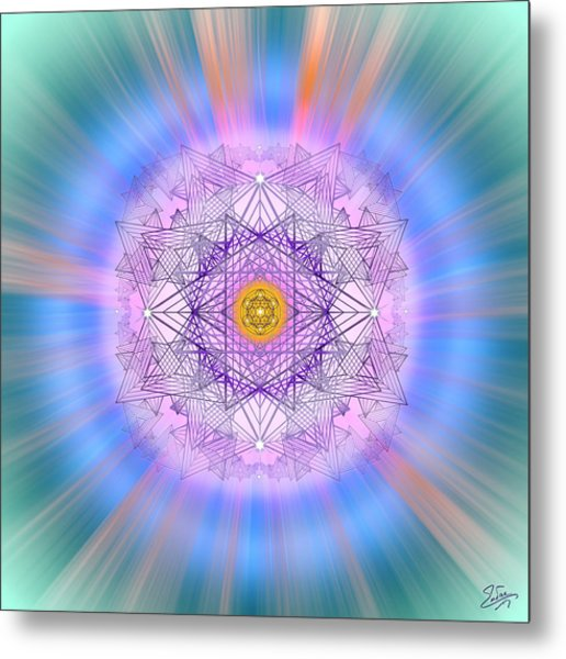 Metal Print featuring the digital art Sacred Geometry 720 by Endre Balogh