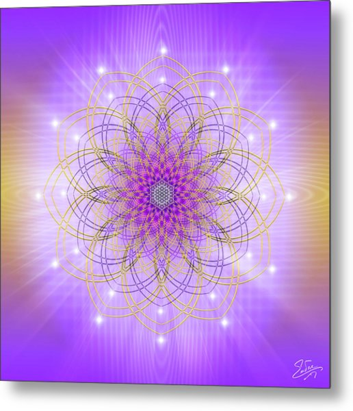 Metal Print featuring the digital art Sacred Geometry 721 by Endre Balogh