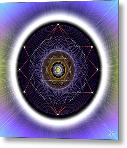 Metal Print featuring the digital art Sacred Geometry 722 by Endre Balogh