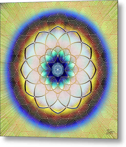 Metal Print featuring the digital art Sacred Geometry 723 by Endre Balogh