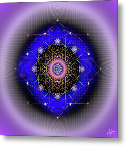 Metal Print featuring the digital art Sacred Geometry 725 by Endre Balogh