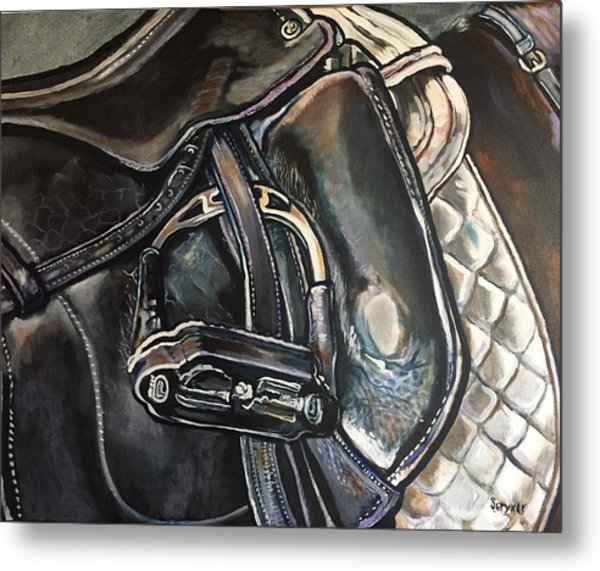 Saddle Study Metal Print