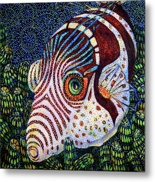 Dreamtime Saddled Puffer Metal Print