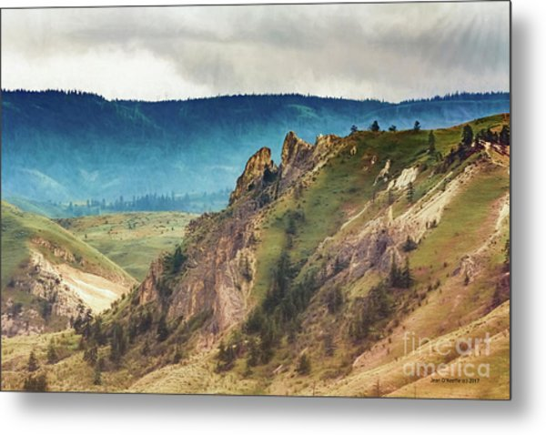 Saddlerock Mountain Metal Print by Jean OKeeffe Macro Abundance Art