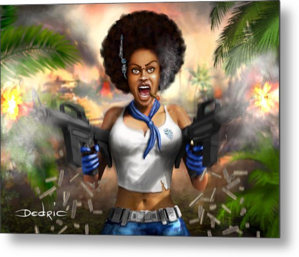 Metal Print featuring the digital art Safari Blue by Dedric Artlove W