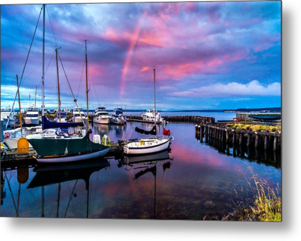 Metal Print featuring the photograph Safe Harbor by TL  Mair