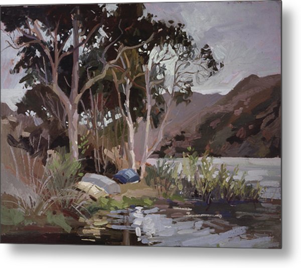 Safe Shelter  - Plein Air - Catalina Island Metal Print